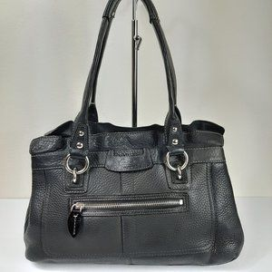 Coach 13164 Penelope Black Pebbled Soft Leather Ha